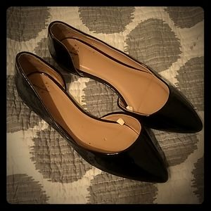a•new day black flats